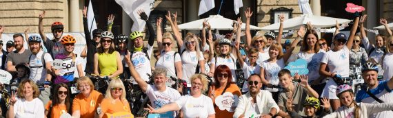 """Более 300 000 гривен собрал 5 благотворительный велопробег """"Кручу педали, чтобы они жили!"""" с Арсеном Мирзояном во Львове"""